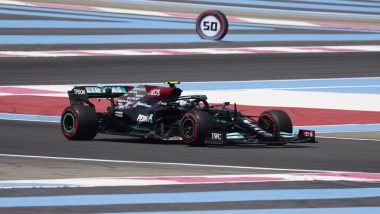 Valtteri Bottas Outraces Mercedes Teammate Lewis Hamilton to Secure Number One Spot During First Practice of French GP 2021 (Watch Video)