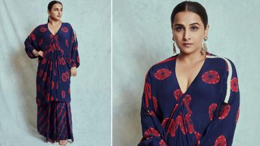 Yo or Hell No? Vidya Balan's Tie-n-Dye Dress For Sherni Promotions By Nupur Kanoi