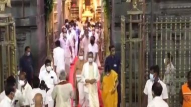 India News   CJI Ramana Offers Prayers at Lord Balaji Temple in Andhra's Tirumala