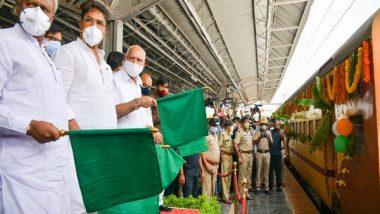 Karnataka CM BS Yediyurappa Flags Off 'Kisan Rail' With 250 Tonnes Mangoes for Delhi