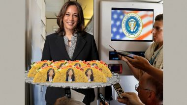 Kamala Harris Served Tacos With Her Picture to Journalists On Board Air Force Two? Fake Post Goes Viral; Here's The Truth Behind The Image