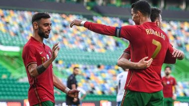 Bruno Fernandes' Brace & Cristiano Ronaldo's Goal Takes Portugal to 4-0 Win Against Israel in International Friendly Match Ahead of Euro Cup 2020 (Watch Goal Highlights)