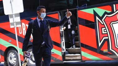 Cristiano Ronaldo, Bruno Fernandes Reach Budapest With Team Portugal for Their Euro 2020 Match Against Hungary (Watch Video, See Pics)