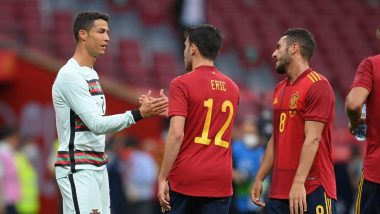 Cristiano Ronaldo Apparently Covers More Than 60 Meter Distance in 7 Seconds During Spain vs Portugal, Friendly 2021 Match; Netizens in Awe (Watch Video)