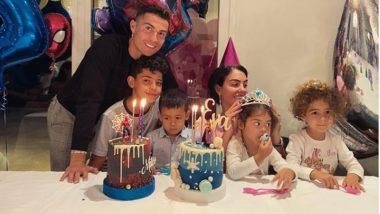 Cristiano Ronaldo & Georgina Rodriguez Celebrate Birthdays of Their Children Eva & Mateo, Post Super Cute Family Photo on Social Media