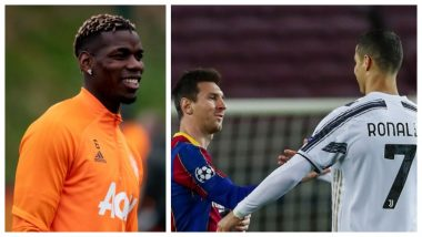 Paul Pogba Takes a Jibe at Cristiano Ronaldo and Lionel Messi While Speaking About Potential Ballon d'Or Winner, Picks N'Golo Kante As the Deserving Candidate