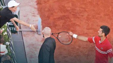 Novak Djokovic Gifts His Racket to Young Fan After Winning the French Open 2021, Says 'He Was Coaching Me' (Watch Video)