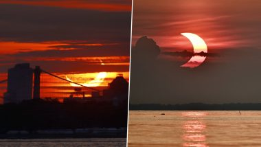 Solar Eclipse 2021 First Photos: 'Ring of Fire' is Now Visible in Several Countries; Netizens' Share Mind-Blowing Pictures of the Celestial Event