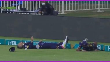 Faf du Plessis Taken to Hospital After Colliding With Mohammad Hasnain During Quetta Gladiators vs Peshawar Zalmi (Watch Video)