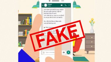 Indian Govt Providing Free Internet Facility to 100 Million Users for 3 Months? PIB Fact Check Reveals Truth Behind Viral WhatsApp Message