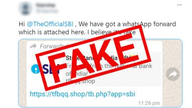 State Bank of India Free Gifts Message Making Rounds On WhatsApp, SBI Warns Against Fake Claims