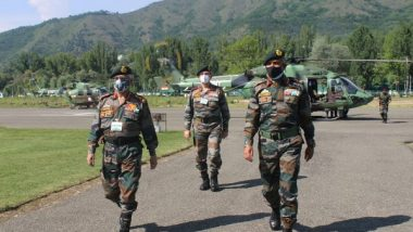 Indian Army Chief General MM Naravane Reviews Security Situation in Kashmir