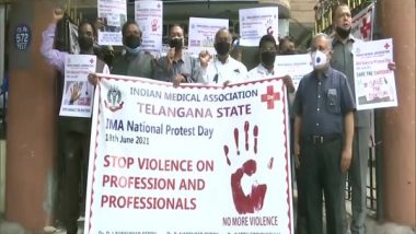 India News | IMA Holds Nationwide Protest Seeking Central Law to Protect Doctors Against Violence