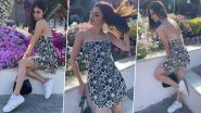 Mouni Roy Stuns in Black and White Easy Breezy Floral Slip Dress in the Latest Photos; Says 'Grateful for Everything Everyday!'