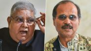 West Bengal Governor Jagdeep Dhankar Meets Congress Leader Adhir Ranjan Chowdhury in Delhi Visit