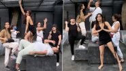Janhvi Kapoor Is Reunited With Her Gang, Grooves to Sean Paul's Temperature in a Hot Black Dress (Watch Video)