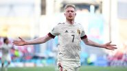 Manchester City Hails Kevin de Bruyne For his Stunning Goal During Belgium vs Denmark, Euro 2020 (Watch Video)