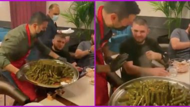 Khabib Nurmagomedov Finally Stops Falling for a Prank After Being Tricked by Chef Burak Ozdemir Many Times in the Past (Watch Viral Video)