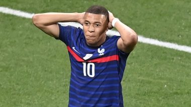 Kylian Mbappe Reacts After Missing Out on Penalty During France vs Switzerland, Euro 2020 (Watch Video)