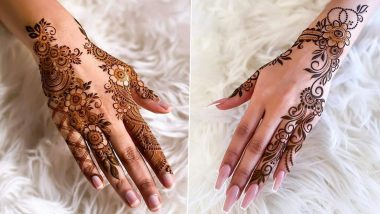 Latest Mehndi Designs for Vat Savitri 2021 Vrat: Quick and Simple Arabic Mehendi Design Ideas, Floral Trail, Indian, Rajasthani and other Henna Patterns to Apply on Hands