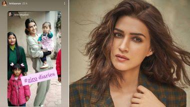 Bhediya: Kriti Sanon Shares Adorable BTS Picture From Her Shooting Days at Arunachal Pradesh