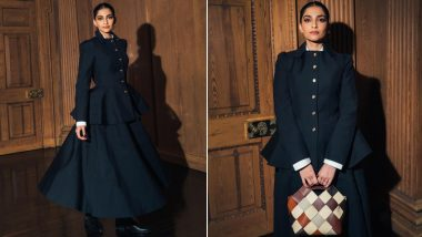 Sonam Kapoor Flaunts Power Dressing in Edgy Black Skirt Suit; See PHOTOS
