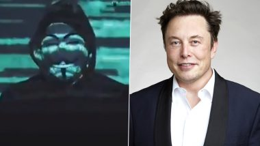 Elon Musk Targeted by Anonymous Hacker Group Over His Cryptocurrency Tweets (Watch Video)