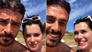 A Shirtless Michele Morrone Wishes His 365 Days Co-star Anna Maria Sieklucka a Happy Birthday As They Spend Time Together at a Beach (Watch Video)
