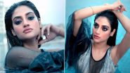 Pregnant Nusrat Jahan Looks Sultry As She Takes a Dip in a Pool in a Sexy Black and Blue Attire; Watch Video