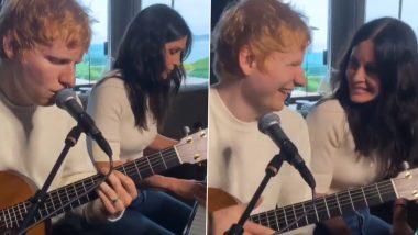 Grammy-Winning Singer Ed Sheeran, Courteney Cox Collaborating on Music Video? - WATCH