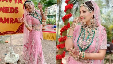 Anupamaa: Madalsa Sharma Aka Kavya's Pastel Pink Lehenga Which She Wore During Her Wedding Scene in the Serial Weighed 10 Kilos! (View Pics)