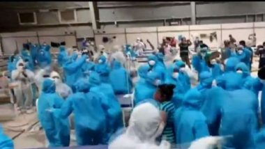Mumbai: Healthcare Professionals at Nesco COVID-19 Centre in Goregaon Show Dance Moves On Zingaat Song (Watch Video)