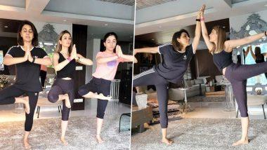 International Yoga Day 2021: Neetu Kapoor, Riddhima Kapoor and Little Samara Perform Yoga Asanas Together (View Pics)