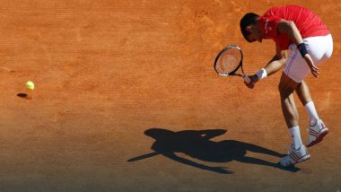 Novak Djokovic Falls While Trying to Hit the Bal During French Open 2021 Finals