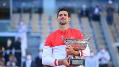 Netizens Label Novak Djokovic as 'GOAT' After Winning French Open 2021 Against Stefanos Tsitsipas