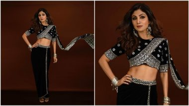 Shilpa Shetty's Black Outfit is Like a Bohemian Rhapsody that We Are Surely Enjoying (View Pics)