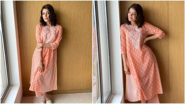 Yo or Hell No? Kajal Aggarwal's Simple Traditional Suit by Anita Dongre