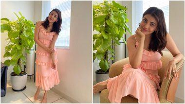 Yo or Hell No? Kajal Aggarwal's Peach Bodycon Dress By Michael Kors