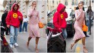 Yo or Hell No? Hailey Bieber's Pink Blingy Dress By Miu Miu