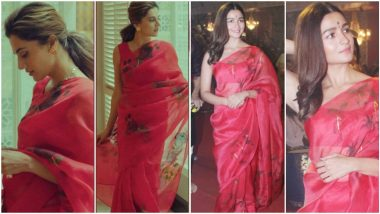 Fashion Faceoff: Alia Bhatt or Taapsee Pannu, Who Nailed this Red Picchika Saree Better?