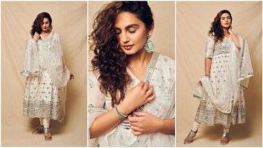 When Huma Qureshi Gave Those Pretty Girl-Next-Door Vibes In Her White Anarkali Suit (View Pics)