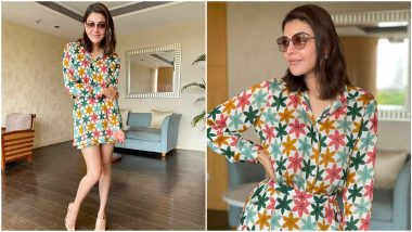 Kajal Aggarwal's Tropical Co-Ord Set Comes With a Heavy Price Tag of Rs 9900!