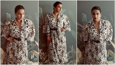 Vidya Balan Takes Her 'Sherni' Promotions Quite Literally; Picks a Leopard Print Outfit For an Appearance (View Pics)