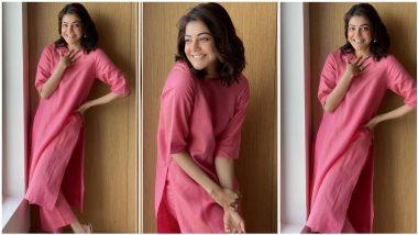Kajal Aggarwal's All-Pink Look Sans Makeup is a Winner (View Pics)