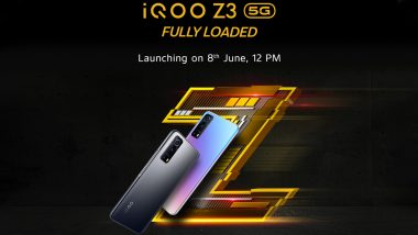 iQOO Z3 5G India Launch Scheduled for June 8, 2021; Check Expected Prices, Features & Specifications