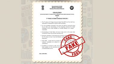 Railway Ministry Issued 7th Phase Exam Schedule for CBT-1? PIB Fact Check Debunks Fake Notice, Reveals Truth