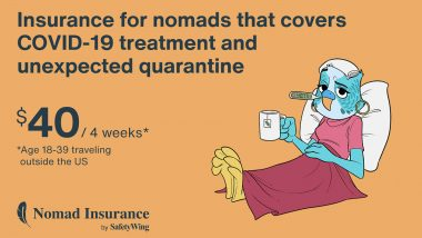 SafetyWing's Nomad Insurance Now Covers Quarantine Outside of Your Home Country