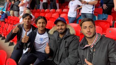 Rishabh Pant Visits Wembley Stadium to Watch Euro Cup 2020 Match Between England And Germany (See Pics)