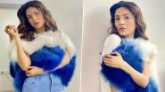 Shehnaaz Gill Looks Pretty in Stylish Blue and White Fur Jacket with Denim Pants; See Latest PICS of the Diva