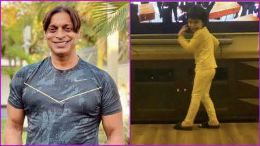 Shoaib Akhtar's Son Dances to Bum Bum Bole Song, Former Pakistan Bowler Praises Bollywood Actor Aamir Khan for his Work (Watch Video)